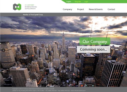 c21st.vn - Website song ngữ Anh - Việt được thiết kế và hoàn thành trên Drupal. Phục vụ cho việc giới thiệu thông tin bất động sản.