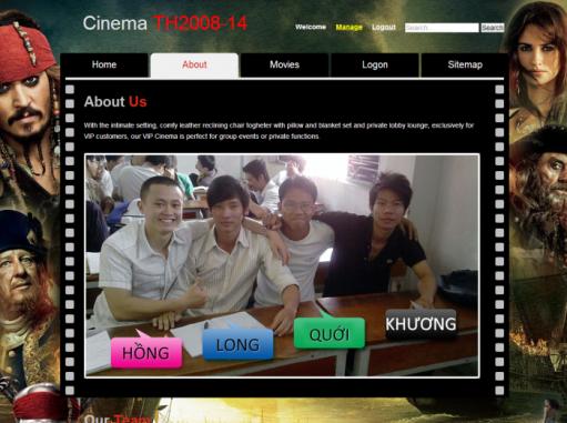 Cinema Website được phát triển bằng PHP và MySQL