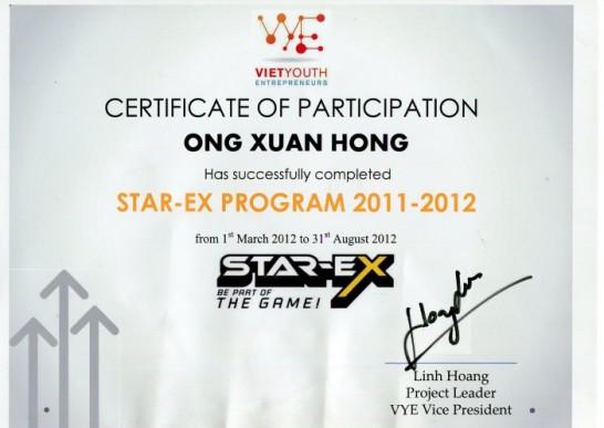 VYE - Start up program