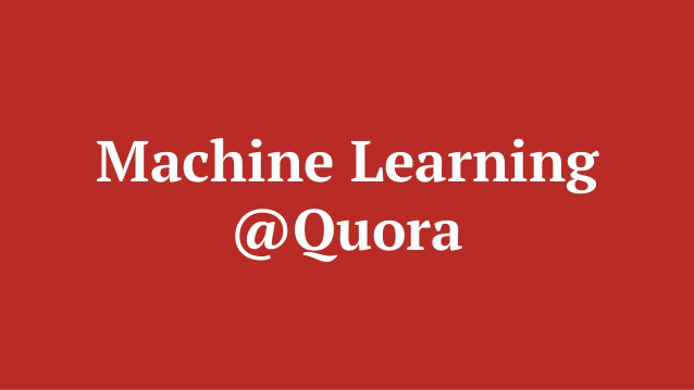 Machine learning Quora