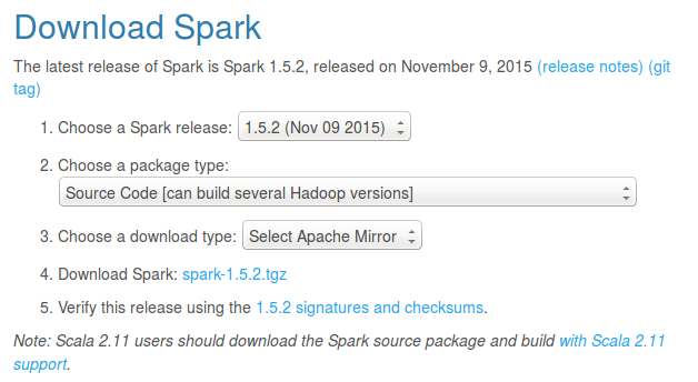 Download Spark source code